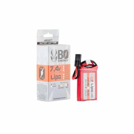 BO Batterie LiPo 2S 7.4V 1200mAh 25C