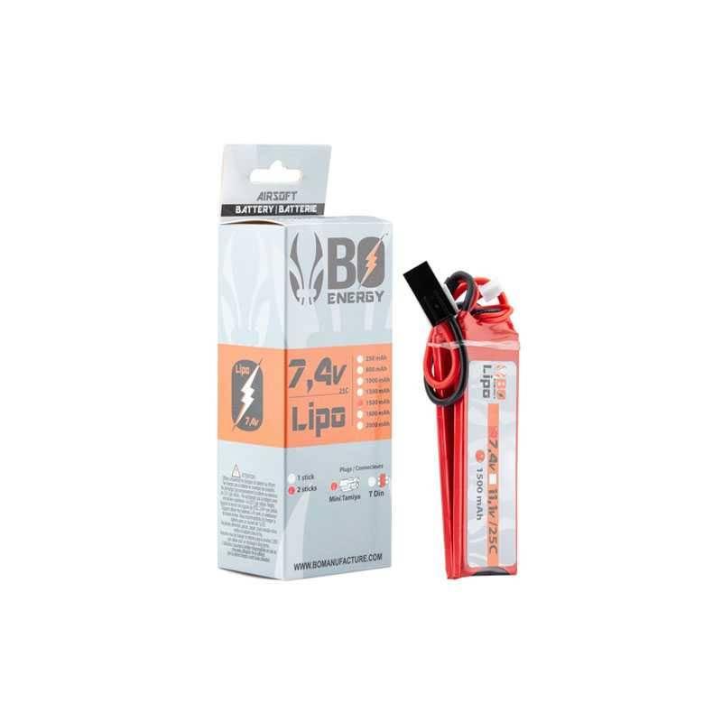 batterie lipo 2S 7.4v 1500mah 25c