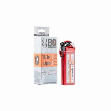 BO Batterie LiPo 3S 11.1V 1300mAh 25C 2 Sticks