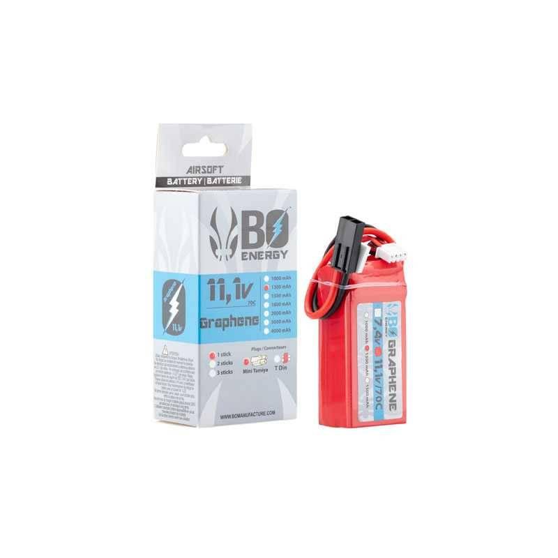 batterie lipo 3s 11.1v 1300mah 70c