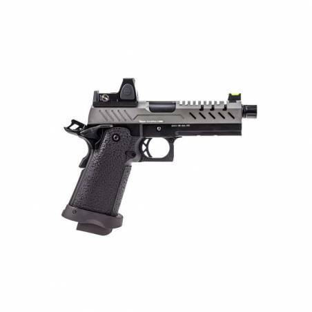 Vorsk Pistolet Hi-Capa 4.3 Gris Gaz avec Red Dot