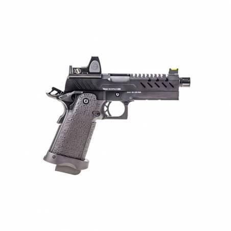 Vorsk Pistolet Hi-Capa 4.3 Noir Gaz avec Red Dot