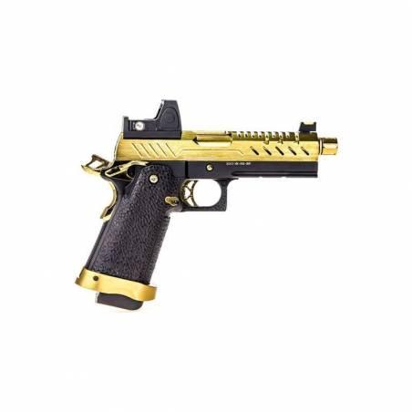 Vorsk Pistolet Hi-Capa 4.3 Or Gaz avec Red Dot