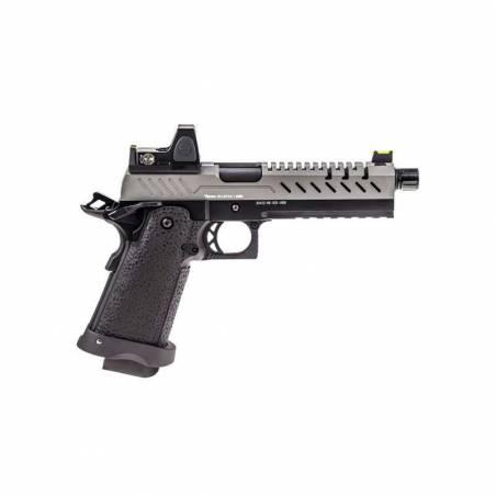 Vorsk Pistolet Hi-Capa 5.1 Gris Gaz avec Red Dot