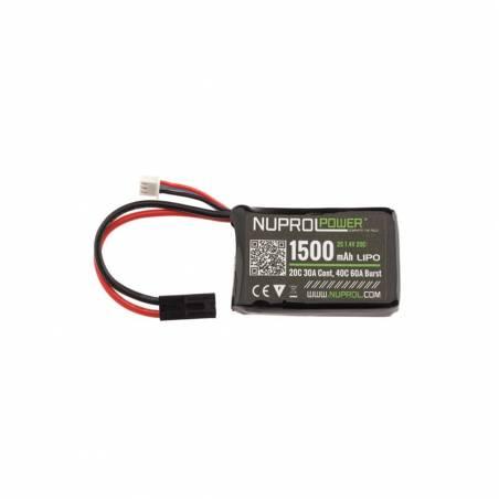 Nuprol Batterie Micro 7,4v 1500mAh 20c LiPo